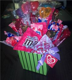 Valentine DIY Candy Bouquet!