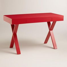 Such a great desk // on sale too!! Comes in white, red & green @worldmarket