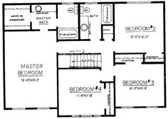1 design center hall colonial home plans on pinterest for Center hall colonial house plans