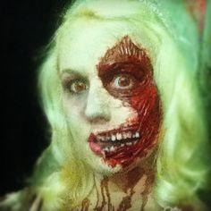 Zombie bride make-up happy Halloween !!