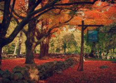Hartwell tavern in the autumn as seen on Fine Art America