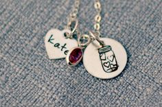 Jar of Hearts Personalized Necklace Hand by 3LittlePixiesShoppe, $38.00
