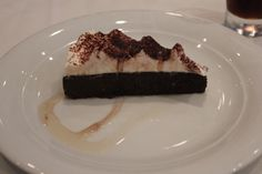 Chocolate Flourless Torte with Amaretto Cream on Norwegian Sky http://www.premiercustomtravel.com/cruises/norwegian.html #Cruising #Travel #Food #Dessert #Norwegian #Sky