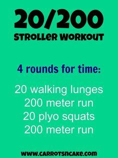 20/200 stroller workout
