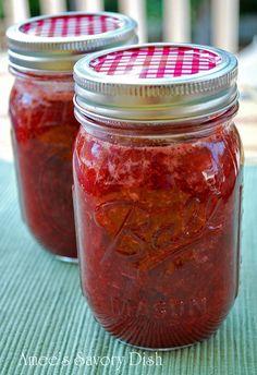 Homemade Strawberry Jam...No refined sugar, vegan