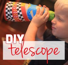 Make Your Own Telescope Craft for Kids #whatsyourid
