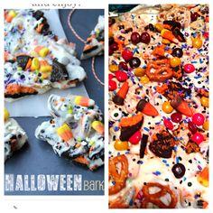 Yummy Halloween Bark the girls and I made!    http://www.familyfreshmeals.com/2013/10/halloween-bark-fun-halloween-food.html