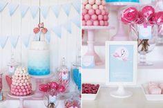 Flamingo Pool party via Kara's Party Ideas karaspartyideas.com #pool #party #flamingo #ideas