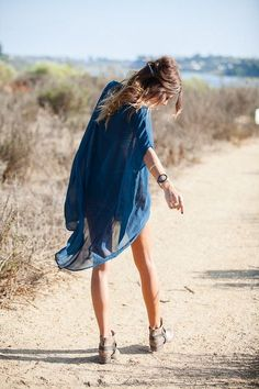 kimono, summer styles, summer fashions, blue, ankle boots