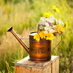 Redeemed - Everything Beautiful - Metal Watering Can