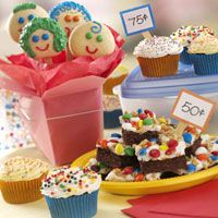 Bake Sale Recipes - Bake sale treats to dazzle the crowd including recipes for cookies, cakes, cupcakes, muffins, quick breads, pies, coffee cakes, candies, snacks and mixes. Perfect for your next fundraising event!