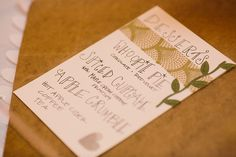 Who Doesn't Love Hand Written Menu Cards? - Shane Godfrey Photography #aldencastle #modernvintage #weddings #menucards