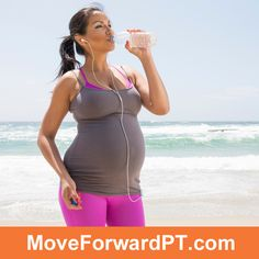 Physical therapists discuss a study about the effects of pregnancy on a woman's running form.