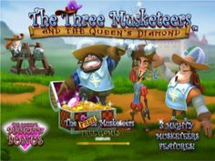 The Three Musketeers slot game is a new generation game from playtech, great 3D graphics, amazing bonus features and superb cash prizes. Enjoy the bonuses to double your money or try this video slot machine for free!  http://www.onlineslotgames4u.com/play/the-three-musketeers-slot-game/