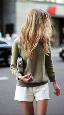 Breezy shorts and sweater