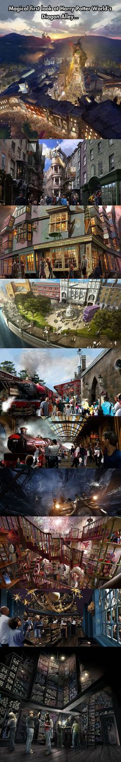 Harry Potter World's Diagon Alley will open on this summer.