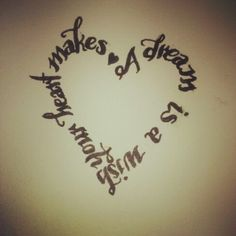 A dream is a wish your heart makes cinderella disney tattoo. Not sure I'd want the heart shape, maybe just along my hair line