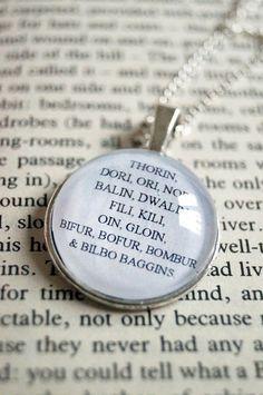 Thorin, Dori, Ori, Nori, Balin, Dwalin, Fili, Kili, Oin, Gloin, Bifur, Bofur, Bombur & Bilbo Baggins