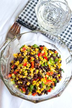Black Bean and Corn Salad from @Lana Stuart | Never Enough Thyme http://www.lanascooking.com/2012/06/04/black-bean-and-corn-salad/
