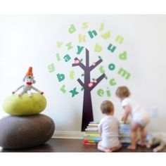 Pop & Lolli Fabric Wall Decals - Tree of Knowledge $107