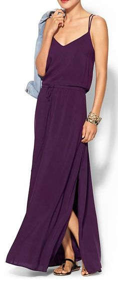 dark purple maxi dress  http://rstyle.me/~2hKHG