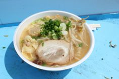 Ramen from the popular Tsujita Tokyo booth at the Ramen Yokocha 2014 festival in Los Angeles. From Monica Campbell's story about learning to slurp with the masters.