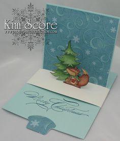 sliding pop up card designed by Kim Score