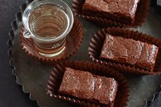 Fudgy Champagne Brownies (from 6 Bittersweets)
