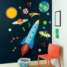 """Out Of This World"" wallpaper mural"