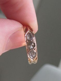 Victorian Rose Cut Diamonds 18K Gold French by ChelseaGirlNYC,
