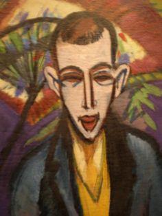 Portrait of Poet Guthmann, 1910, Ernst Ludwig Kirchner