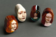 Sliced Glass Paintings and Portraits by Loren Stump