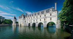 Chateau de Chenonceau Castle, France architect, de chenonceau, castles, loire valley, hous, france, places, rivers, bridges
