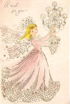 A wish for you. #vintage #Christmas #cards #angels