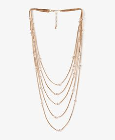 "F21 Beaded box-chain necklace, 25.5"" $10.80"