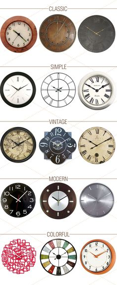 Form and function, what more can you ask for?  This round up of wall clocks brings both!