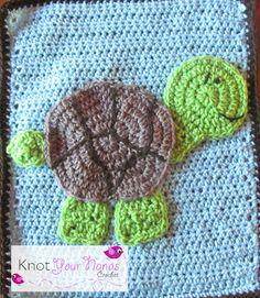 Crochet Turtle Applique