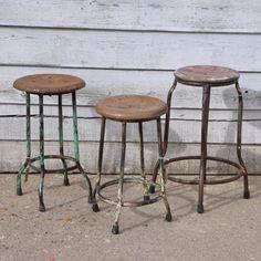 Round Vintage stool...