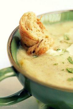 Light Potato Cheese Soup -