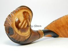 "Tobacco Smoking pipe ""US-Dollar"" Handmade,Estate,Collectible + Gift POUCH"