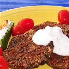 Spicy Black Bean Cakes Allrecipes.com | Recipes | Pinterest