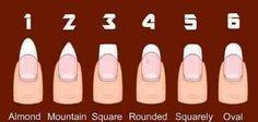 Shapes for fake nails