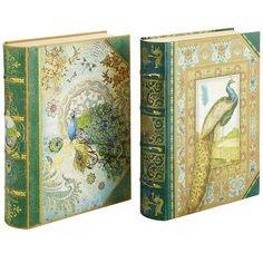Pier 1 Peacock Book Boxes