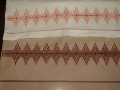 Monk's Cloth - Huck Embroidery