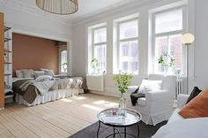 Great studio apartment in Sweden. Love it. Check out all the photos.