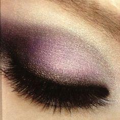 purple smokey eye and lashes!