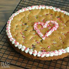 Homemade Cookie Cake via Peas & Crayons