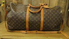 "Louis Vuitton Brown Monogram ""Keepall 60"" Luggage #louisvuitton #luggage #designer #keepall"