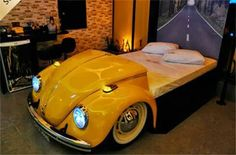 "vw ""Bug"" bed! idea, beds, vw beetles, vw bugs, vw bed, bed bugs, oranges, bedrooms, dean bedroom"
