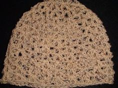 V-stitch crochet summer hat